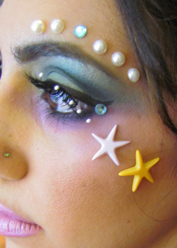 how to draw fish scales makeup