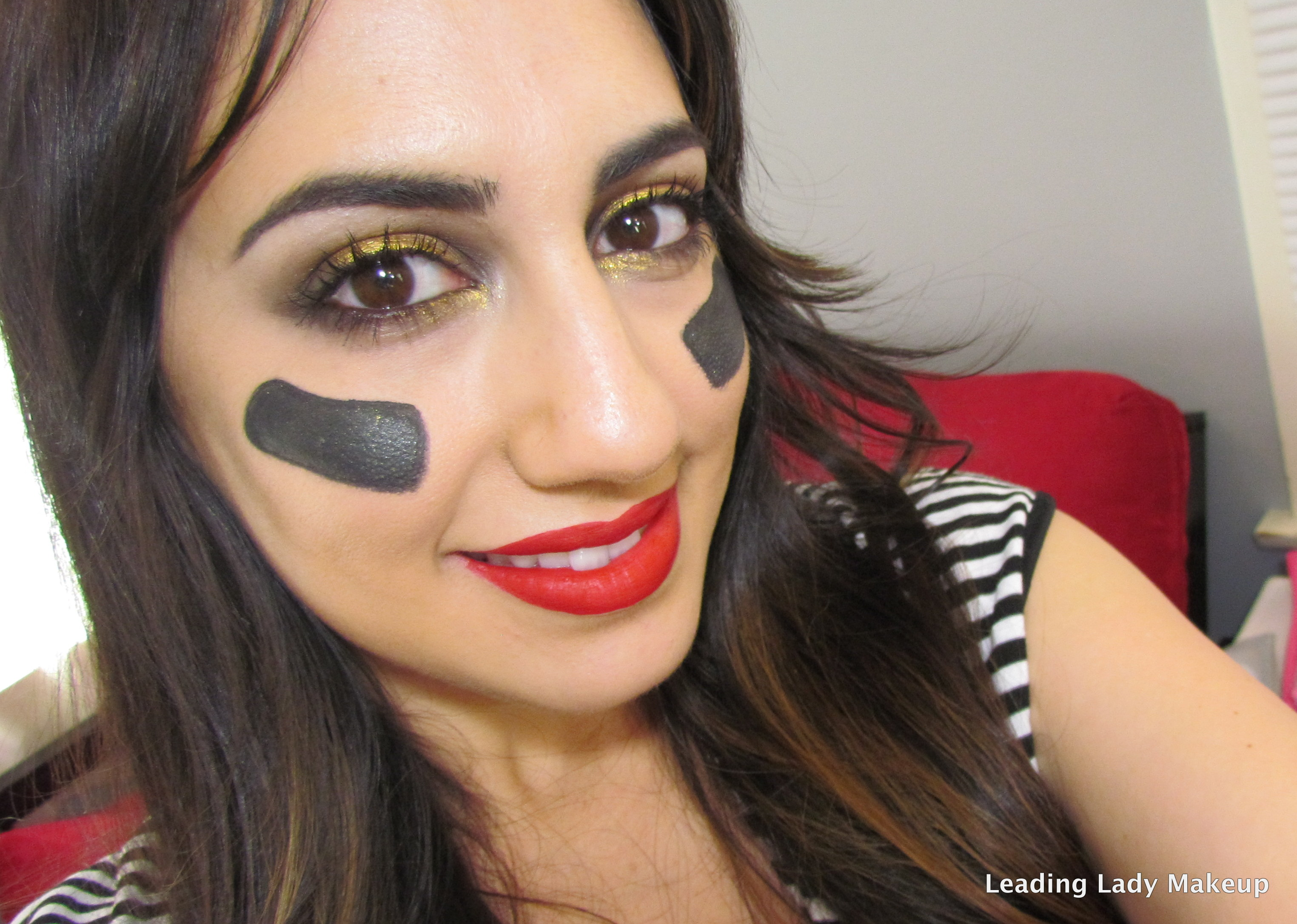 Super Bowl 49ers Makeup With Video