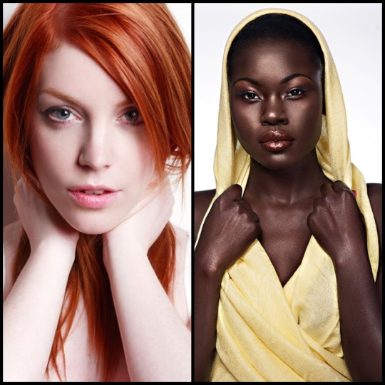 Ebony & Ivory: Makeup for Very Pale and Deep Dark Skin