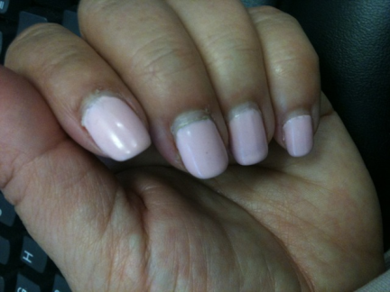 Yuck! Grown out nails