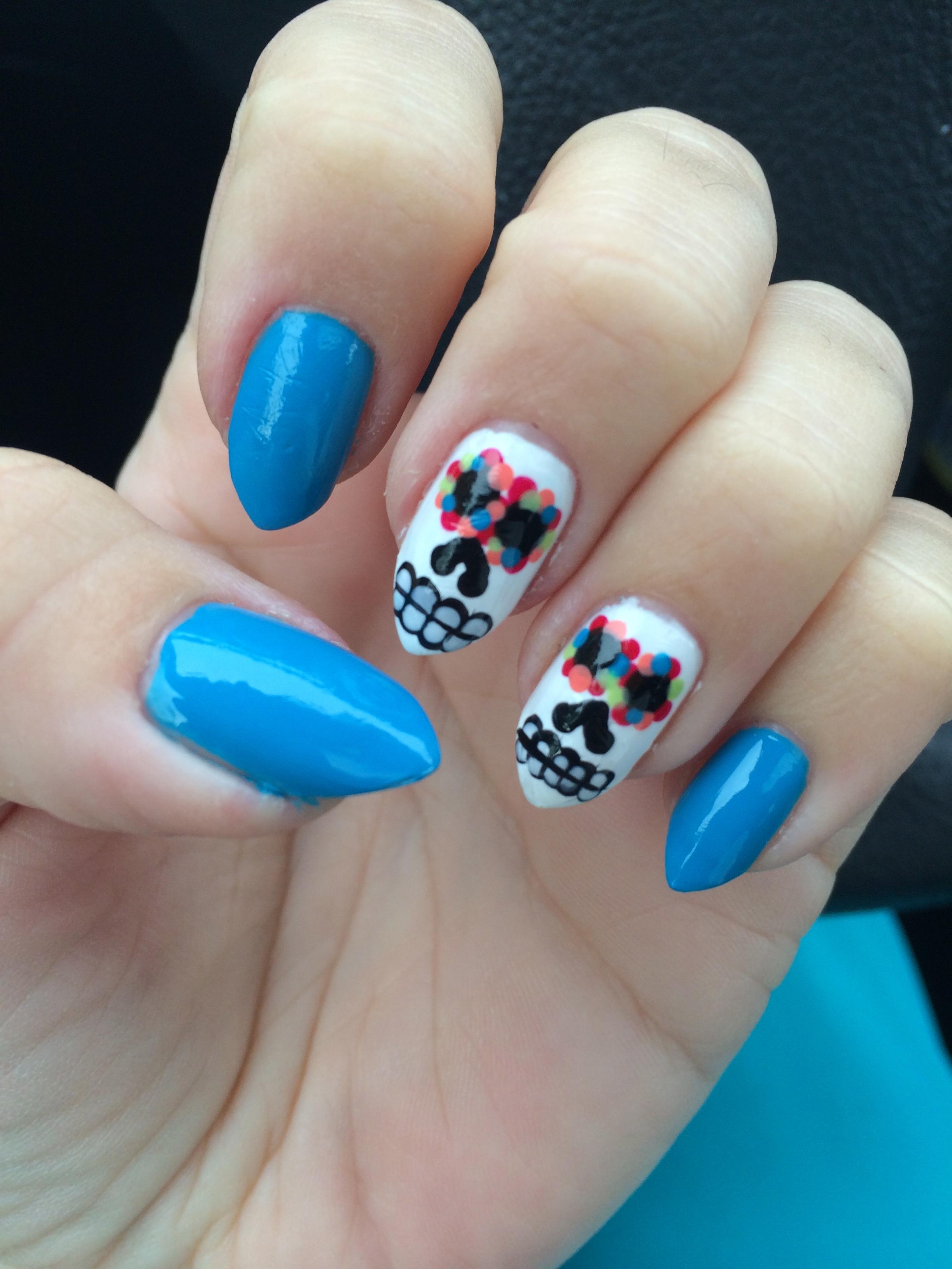 Dia de los muertos nail art diadelosmuertos prinsesfo Images