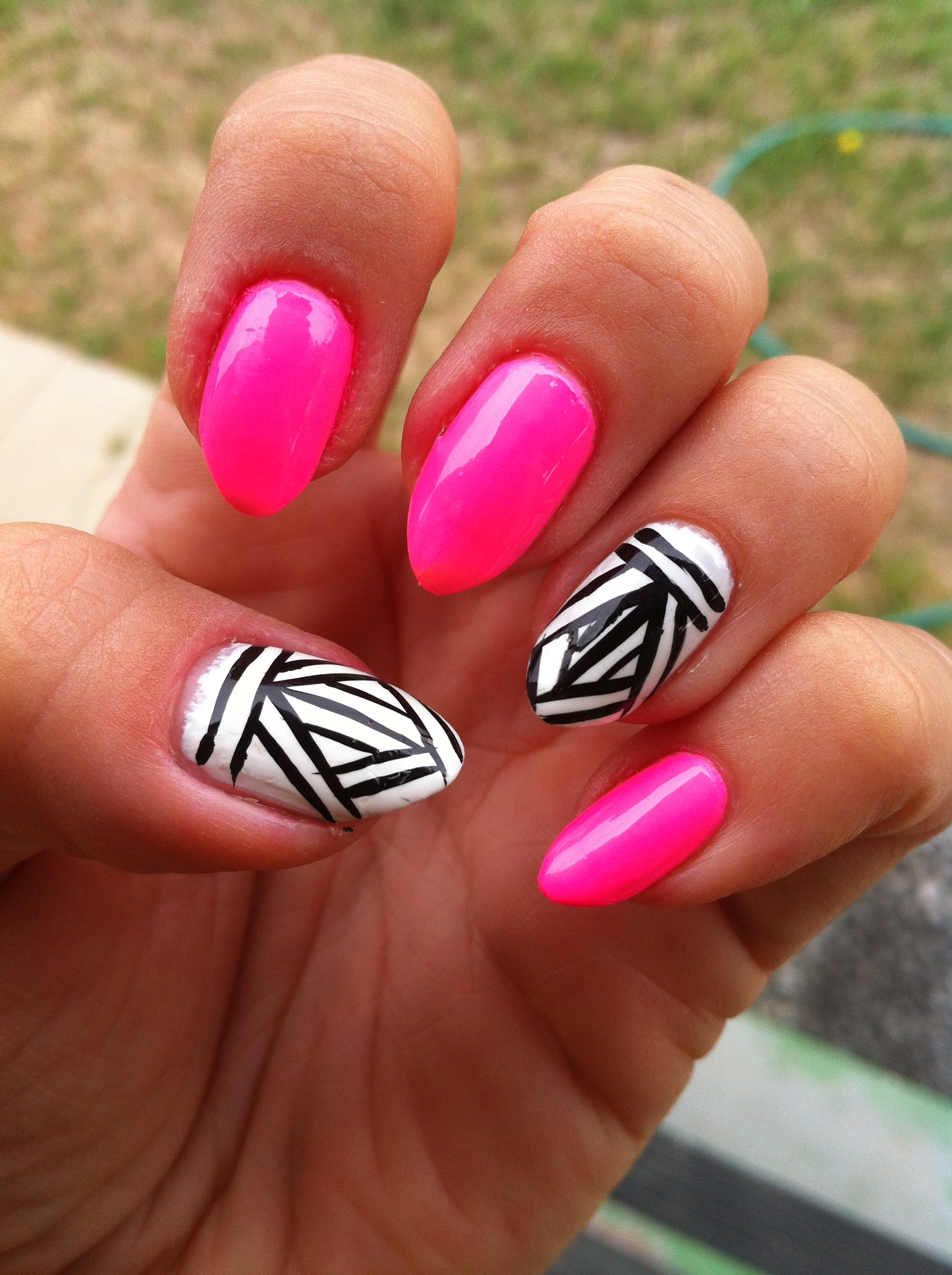 Nail art neon aztec prinsesfo Images