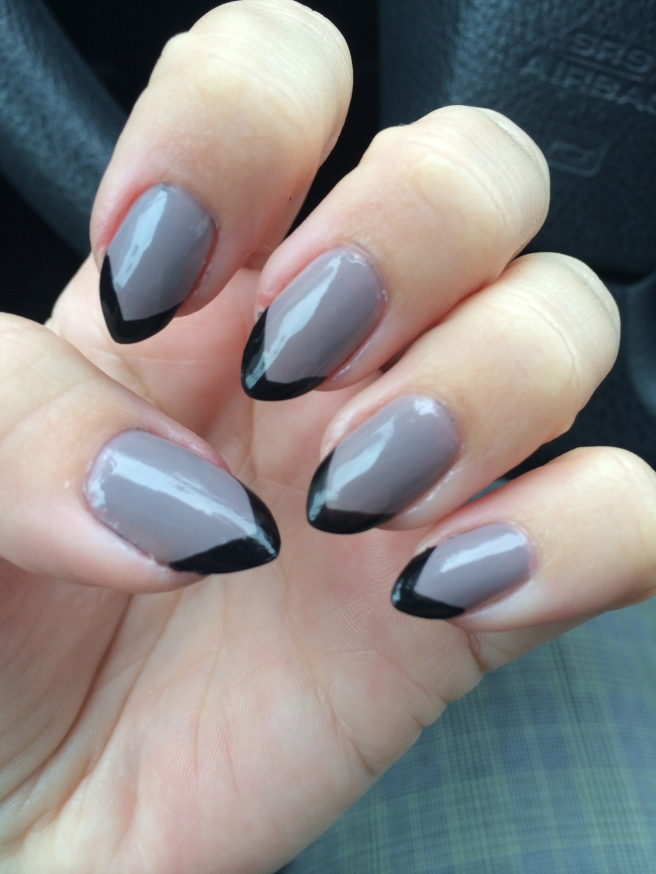 Grey with Black Tips
